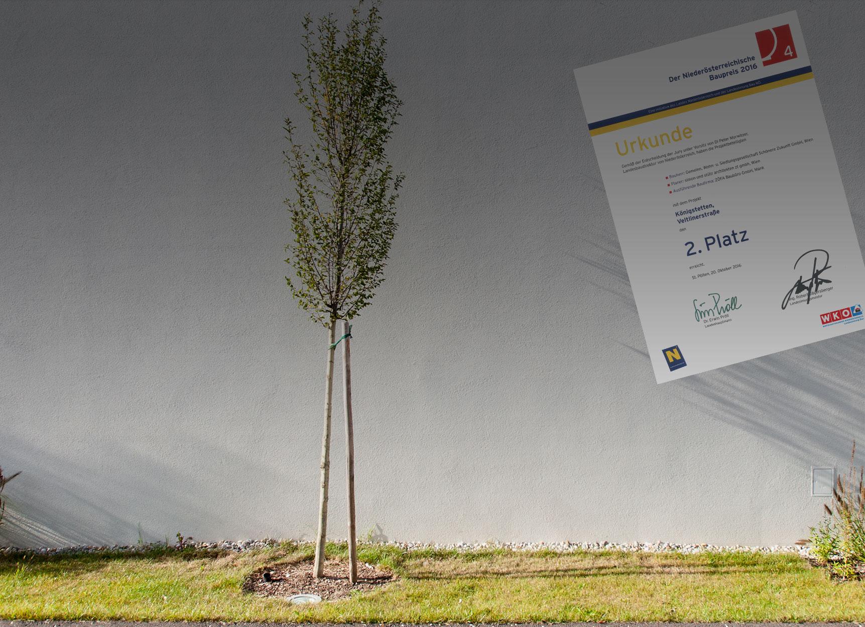 Reihenhausanlage Königstetten | Baupreis 2016 2. Platz