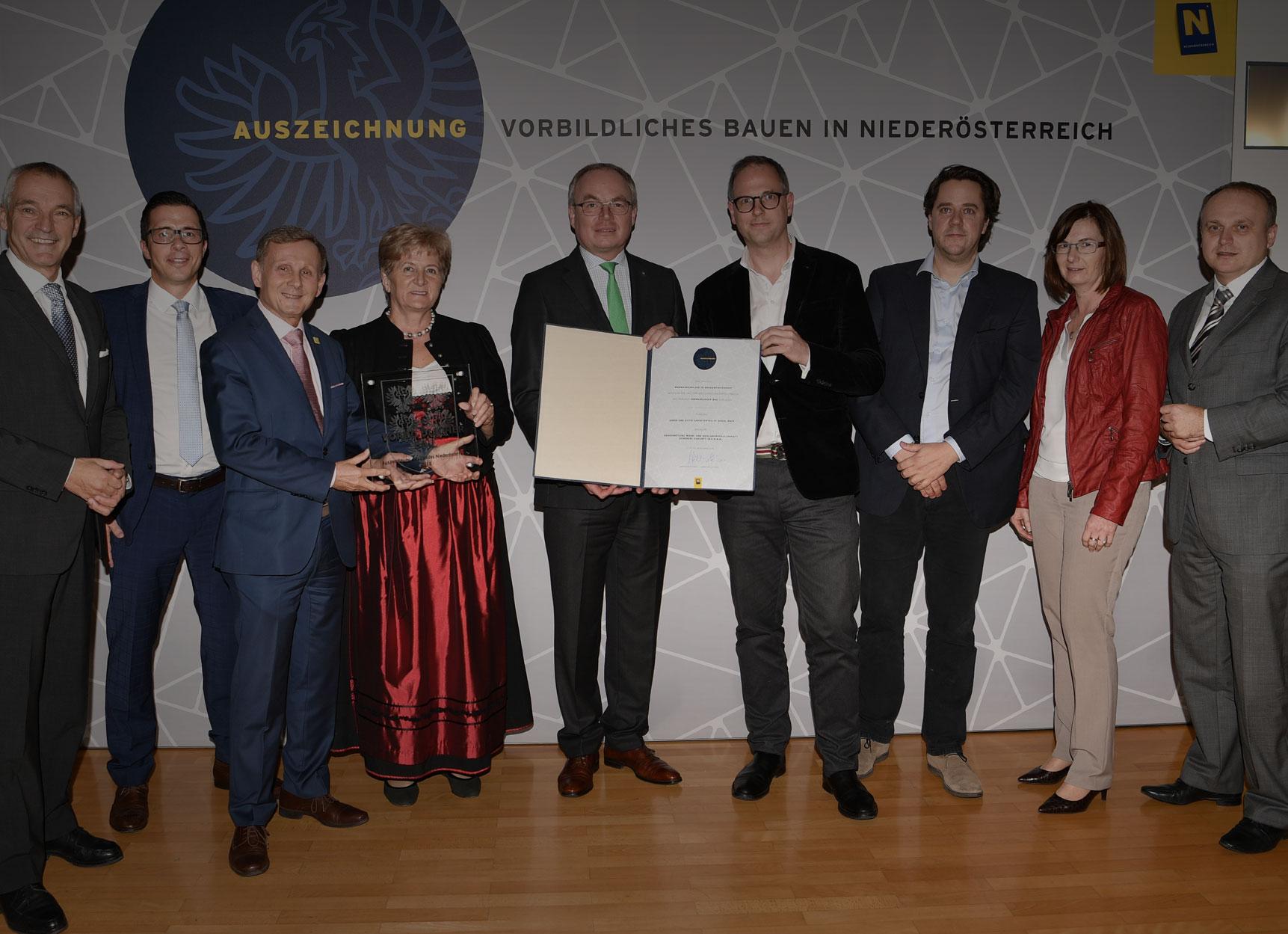 Anerkennungen für vorbildliche Bauten in Niederösterreich